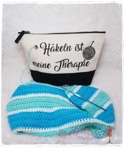Projekttasche , Wolltasche für Strick-/Häkelzeug -Therapie-