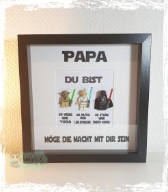 Rahmen für den tollsten Papa/Mann - Jedi  - Handarbeit kaufen