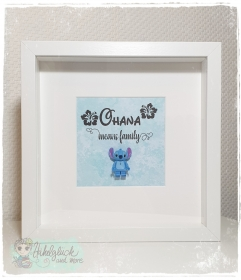 Rahmen für die ganze Familie - Ohana- Stitch - Handarbeit kaufen