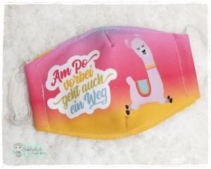 Mundbedeckung, Mund-Nasen-Maske, Behelfsmaske, waschbar (Am Po vorbei) - Handarbeit kaufen