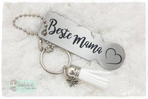 Einkaufswagenlöser ♥ Schlüsselanhänger ♥ Beste Mama - Handarbeit kaufen