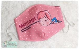 Mundbedeckung, Mund-Nasen-Maske, Behelfsmaske, waschbar (Montag) - Handarbeit kaufen