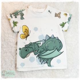 T-Shirt ♥kleiner Drache Angshase ♥ Größe 80/86 - Handarbeit kaufen