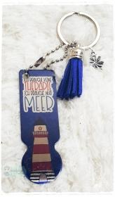 Einkaufswagenlöser ♥ Schlüsselanhänger ♥ Leuchtturm - Handarbeit kaufen