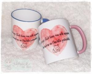 Tasse ♥ Chinchilla ♥ Rosa oder blau  - Handarbeit kaufen
