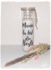 ♥ Für die beste Mama ♥ Kerze im Glas - Handarbeit kaufen