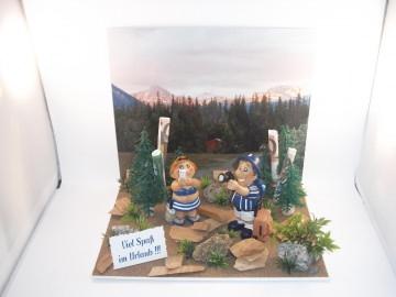 Geldgeschenk für einen Urlaub in den Bergen, Geburtstag, Kanada, Urlaubsgeld, Reise - Handarbeit kaufen