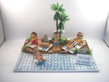 Geldgeschenk Geburtstag, Urlaub, Urlaubsgeld, Familienurlaub, Urlaub mit Kindern - Handarbeit kaufen