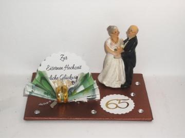 Geldgeschenk Eiserne Hochzeit, 65, Ehejubiläum