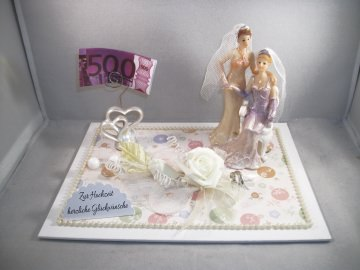 Geldgeschenk, Frauenhochzeit, lesbisch, Hochzeit, Frauen heiraten - Handarbeit kaufen