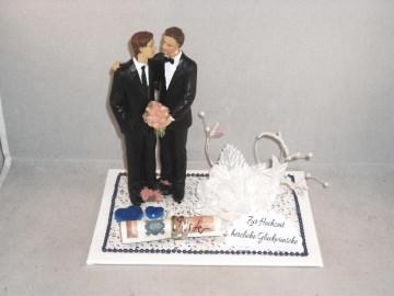 Geldgeschenk Männerhochzeit, schwul, Hochzeit, Ehe, Männer heiraten - Handarbeit kaufen