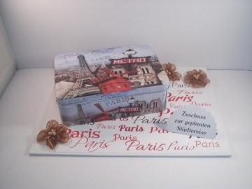 Geldgeschenk Städtereise Paris, Gutschein, Reise, Frankreich
