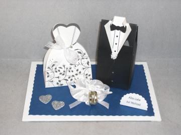 Hochzeit, Geldgeschenk, Vermählung, Brautpaar, Geschenkschachtel - Handarbeit kaufen