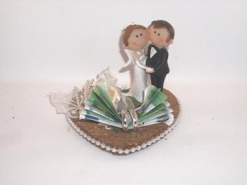 Geldgeschenk, Hochzeit, lustiges Paar, Comic, funny, Humor, Brautpaar - Handarbeit kaufen