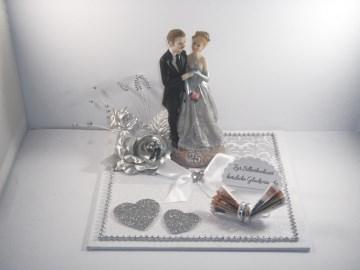 Geldgeschenk zur Silberhochzeit, 25, Ehejubiläum, 25. Hochzeitstag - Handarbeit kaufen