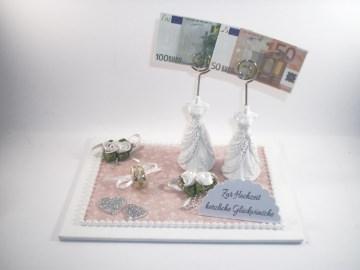 Geldgeschenk, Frauenhochzeit, lesbisch, Hochzeit, Frauen heiraten, Geldhalter, Geldsprirale - Handarbeit kaufen