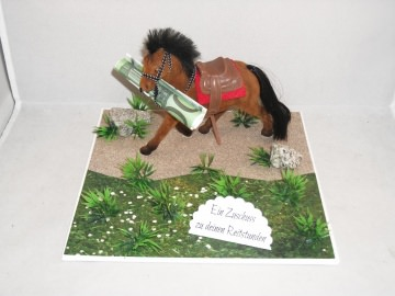 Geldgeschenk für Reitstunden, Geburtstag, Pferd, Stute, Fohlen, Hengst - Handarbeit kaufen