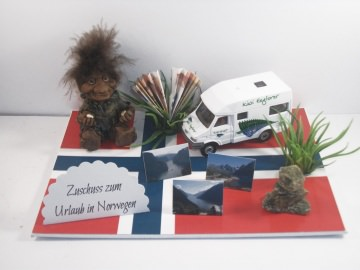 Geldgeschenk, Geburtstag, Wohnmobil, Norwegen, Skandinavien, Troll, Inukshuk, Norden, Urlaub, Wohnwagen, Schweden, Finnland
