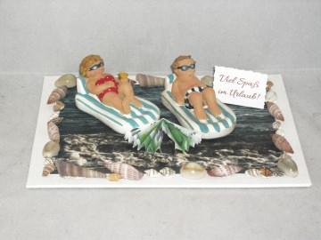 Geldgeschenk Urlaub, Geburtstag, Reise, Luftmatratze, Meer, Strand, Sonne, Urlaubsgeld, schwimmen, - Handarbeit kaufen