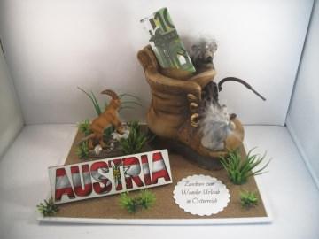 Geldgeschenk Wanderurlaub, Urlaub, Geburtstag, wandern, Österreich, Austria, Wanderschuhe, Berge, Gebirge - Handarbeit kaufen