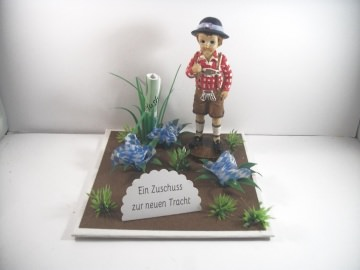 Geldgeschenk Tracht, Lederhose, Geburtstag, Landhaus, Wiesn, Bayern, bayrisch, Oktoberfest, zünftig   - Handarbeit kaufen