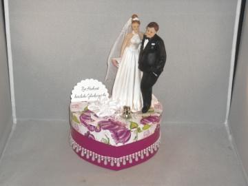 Geldgeschenk Hochzeit, Brautpaar, dicker Mann, schlanke Frau, humorvoll, Ehe, korpulenter Mann - Handarbeit kaufen