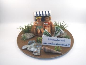 Geldgeschenk Geburtstag, Urlaub, Urlaubsgeld, Strandurlaub, Strandkorb, Ostsee, Nordsee, lustig, humorvoll     - Handarbeit kaufen