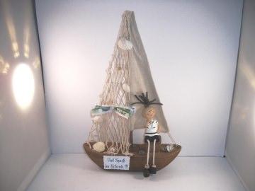 Geldgeschenk Geburtstag, Urlaub, Urlaubsgeld, Segelboot, Boot, Matrose - Handarbeit kaufen