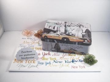Geldgeschenk Geburtstag, Urlaub, Städtereise New York, Gutschein, Reise, Amerika