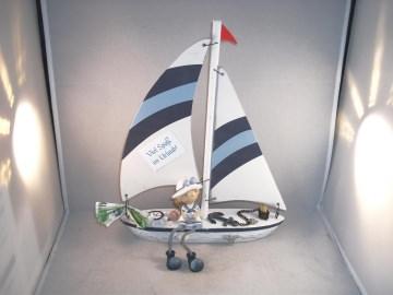 Geldgeschenk Geburtstag, Urlaub, Urlaubsgeld, Segelboot, Matrose, Matrosenmädchen, Schiffsreise, Boot   - Handarbeit kaufen