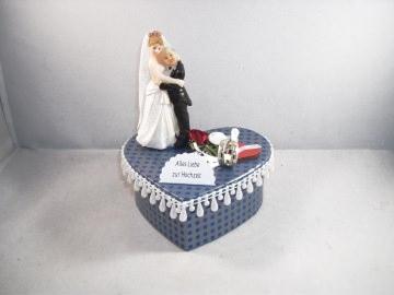 Geldgeschenk Hochzeit, Brautpaar alt und jung, Ehe - alter Mann, junge Frau - dicker Mann, schlanke Frau - kleiner Mann, große Frau, humorvoll - Handarbeit kaufen