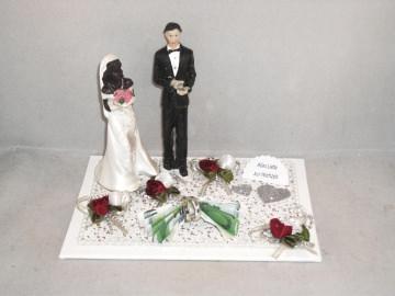 Hochzeit, Geldgeschenk, Braut oder Bräutigam farbig dunkelhäutig, Wunschzusammenstellung - Handarbeit kaufen