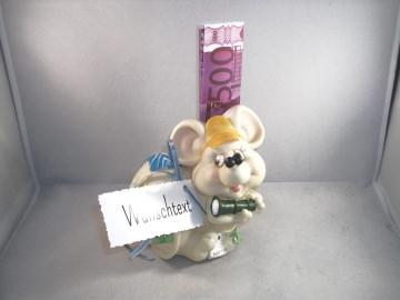 Geldgeschenk, Spardose, Maus, Mäuse, Geburtstag, Jugendweihe, Jubiläum, Prüfung - Handarbeit kaufen