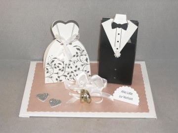 Hochzeit, Geldgeschenk, Vermählung, Brautpaar, Geldgeschenk-Schachteln