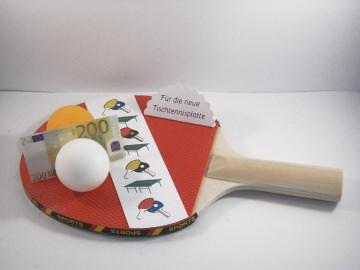 Geldgeschenk Geburtstag, für Tischtennisplatte, Tischtennis, Tischtennis-Verein, Zubehör, Sport - Handarbeit kaufen