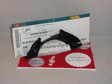 Verpackung für Konzertkarten, Geburtstag, alte Schallplatte verbogen, Vinyl-Single, jede ein Unikat - Handarbeit kaufen