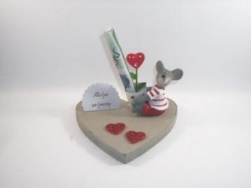 Geldgeschenk zum Geburtstag, Maus, Valentinstag, Jugendweihe, Muttertag - Handarbeit kaufen