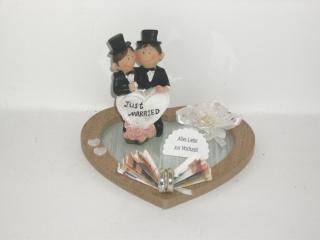 Hochzeit, Geldgeschenk, Männerhochzeit, schwul, Männer heiraten - Handarbeit kaufen