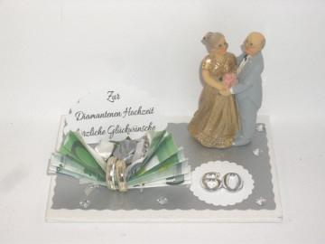Geldgeschenk Diamantene Hochzeit, 60, Ehejubiläum, lange Ehe