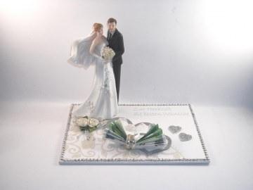 Geldgeschenk Hochzeit, Braut m. Schleier, Untergrund in 3D-Optik - Handarbeit kaufen