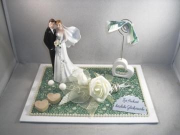 Geldgeschenk Hochzeit, Brautpaar, Kartenhalter, Geldscheinhalter - Handarbeit kaufen