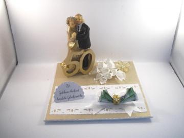 Geldgeschenk Goldene Hochzeit, 50 Jahre, lange Ehe, Ehejubiläum  - Handarbeit kaufen
