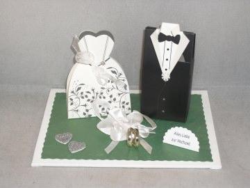 Hochzeit, Geldgeschenk, Vermählung, Brautpaar, Geldgeschenk-Schachteln  - Handarbeit kaufen