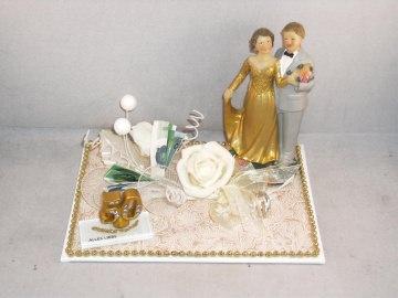 Geldgeschenk, Goldene Hochzeit, Goldhochzeit, 50, 50 Jahre verheiratet, junggebliebenes Paar