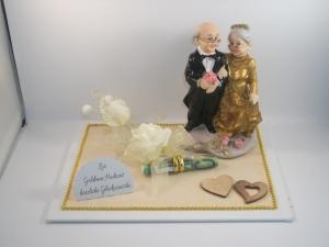 Geldgeschenk Goldene Hochzeit, 50 Jahre, lange Ehe, Ehejubiläum, Goldhochzeit