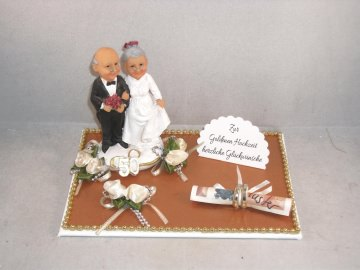 Geldgeschenk Goldhochzeit, Goldene Hochzeit, 50, lustiges Paar, Humor - Handarbeit kaufen