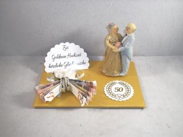 Geldgeschenk Goldhochzeit, Goldene Hochzeit, 50, Ehejubiläum - Handarbeit kaufen