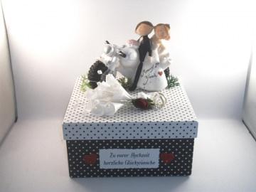 Geldgeschenk zur Biker-Hochzeit, Motorrad, lustig, humorvoll, Geschenkschachtel