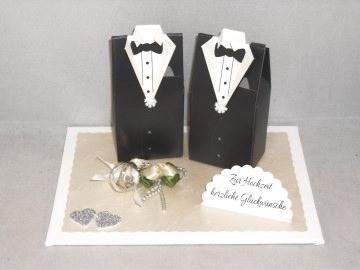 Geldgeschenk Männerhochzeit, schwul, Hochzeit, Geschenkbox - Handarbeit kaufen