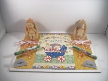 Geldgeschenk zur Geburt, Zwillinge, Farben wählbar, Zwillingspärchen - Handarbeit kaufen